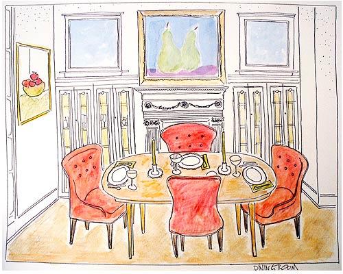 Dining Room rendering by Laurie Ladlock