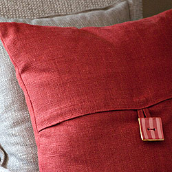 Throw Pillows in Linen