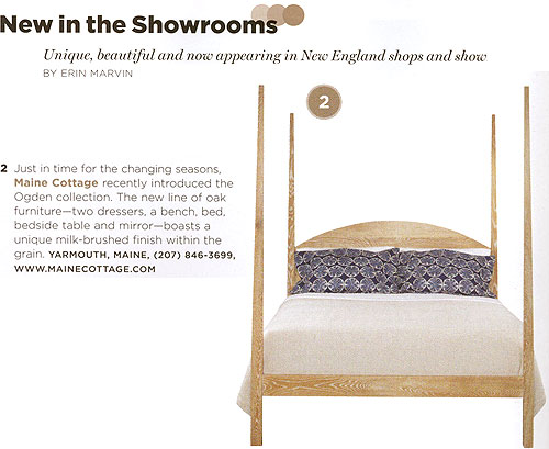 Maine Cottage Ogden Bed in New England Home magazine