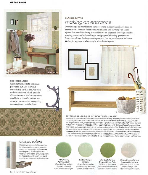 Ogden Long Bench in Martha Stewart Living