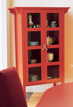 Maine Cottage Ruby Glass Cabinet
